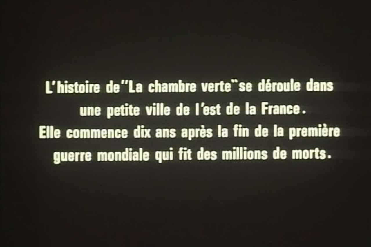 la chambre verte - Chambre Verte Truffaut